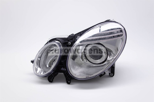 Headlight left chrome Mercedes E Class W211 06-08