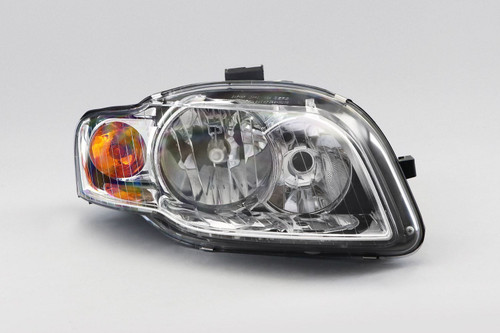 Headlight right chrome with orange indicator Audi A4 B7 04-07