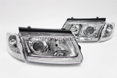 Headlights set chrome projector look VW Passat B5 97-00