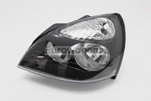 Headlight left black Renault Clio MK2 01-05