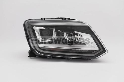 Headlight right black bi xenon LED DRL VW Amarok 14-