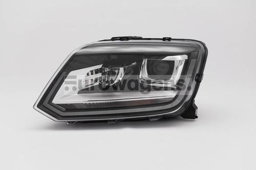 Headlight left black bi xenon LED DRL VW Amarok 14-