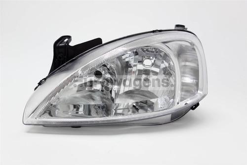 Headlight left chrome Vauxhall Corsa C 00-03