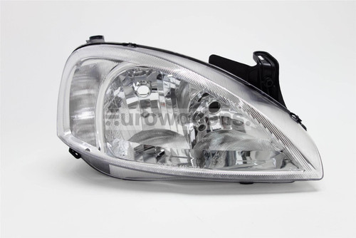 Headlight right chrome Vauxhall Corsa C 00-03