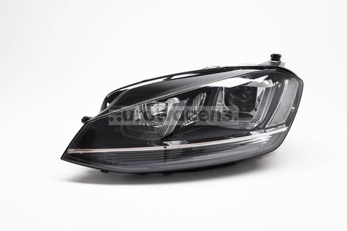 Headlight left black bi xenon adaptive LED DRL AFS VW Golf MK7 12-16