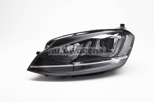Headlight left black bi xenon LED DRL AFS VW Golf MK7 12-16