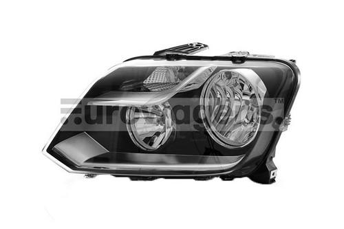 Headlight left black VW Amarok 13-
