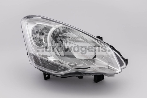 Headlight right Citroen Berlingo 08-11