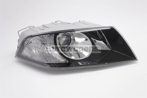 Headlight right projector black Skoda Octavia 05-08