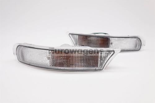 Front bumper indicators set clear Subaru Impreza 93-98 Estate