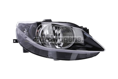 Headlight right black Seat Ibiza 08-11