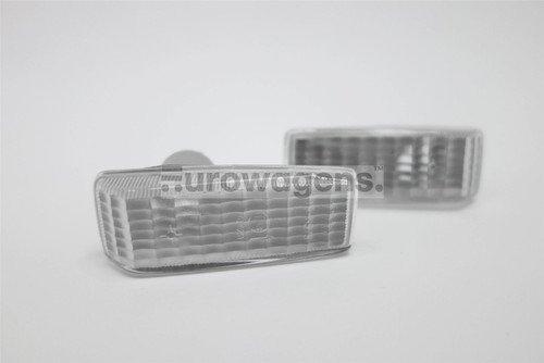 Side indicators set clear Mercedes 190 C E Class