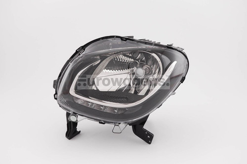 Headlight left black LED DRL Smart ForFour 15-17