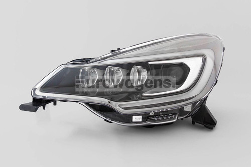 Headlight left black bi xenon LED DRL Ciroen DS3 13-15