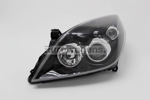 Headlight left black Vauxhall Vectra C Signum 05-09 Valeo