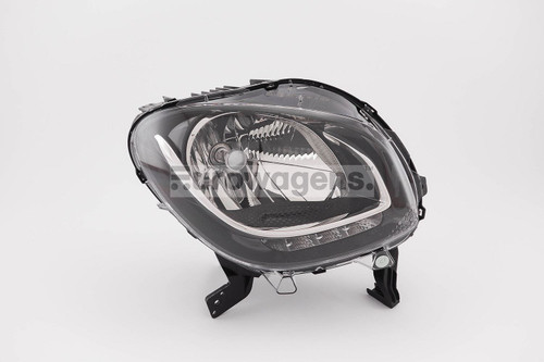 Headlight right black LED DRL Smart ForFour Highline 15-17