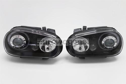 Angel eyes headlights set black with fog light VW Golf MK4 98-03