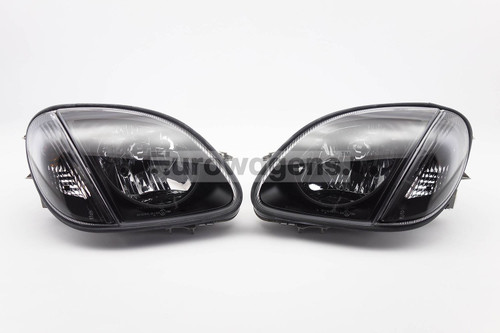 Headlights set black Mercedes SLK R170 96-04