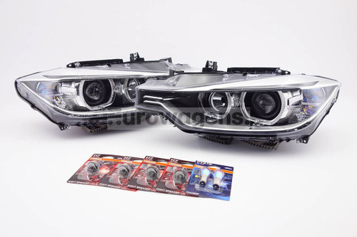 Angel eyes xenon look headlights set with bulbs Osram Unlimited BMW 3 Series F30 F31 12-15