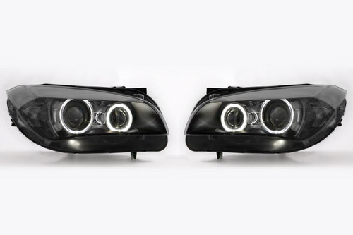 Angel eyes headlights set LED BMW X1 E84 09-12