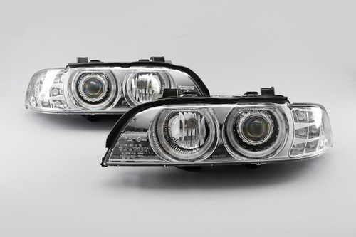 Angel eyes headlights set chrome BMW 5 Series E39 95-00