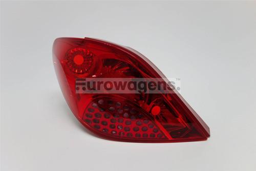 Rear light left Peugeot 207 06-09 Hatchback