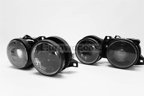 Headlights set black BMW 3 Series E30 87-92