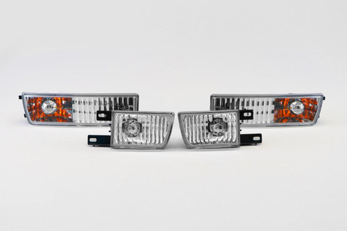 Front indicators with covers crystal clear VW Golf MK3 92-97