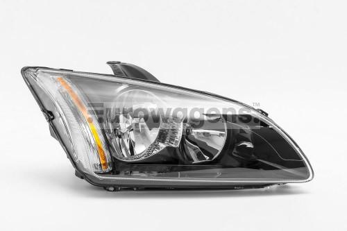 Headlight black right Ford Focus MK2 05-07