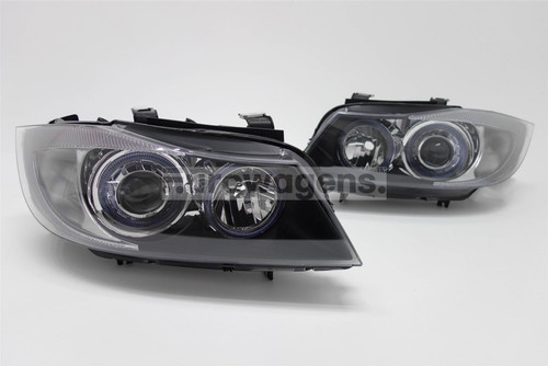 Angel eyes headlights set BMW 3 Series E90 05-08 Saloon/Estate