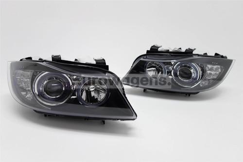 Angel eyes headlights set LED BMW 3 Series E90 05-08 Saloon/Estate