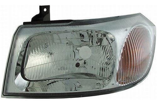 Headlight left chrome Ford Transit 00-06