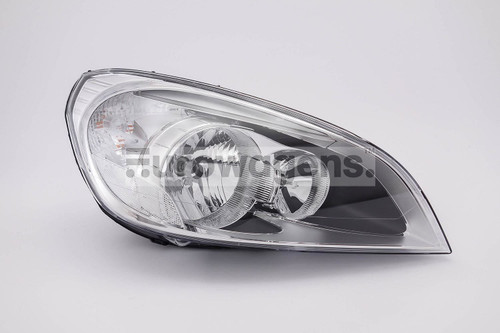Headlight right LED DRL Volvo S60 10-12