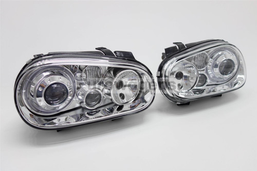 Angel eyes set chrome twin halos VW Golf MK4 98-04