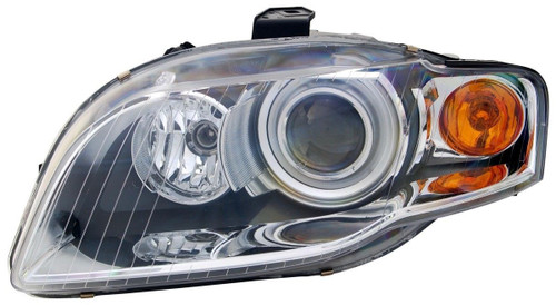 Headlight left chrome xenon with orange indicator AFS Audi A4 B7 04-06