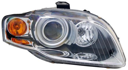 Headlight right chrome xenon with orange indicator AFS Audi A4 B7 04-06