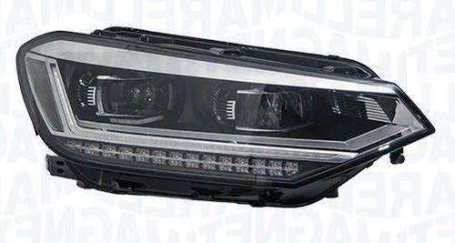 Headlight right full LED adaptive VW Touran 15-