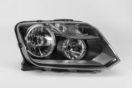 Headlight right black VW Amarok 10-
