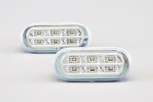 Side indicators set crystal clear LED VW Amarok 10-
