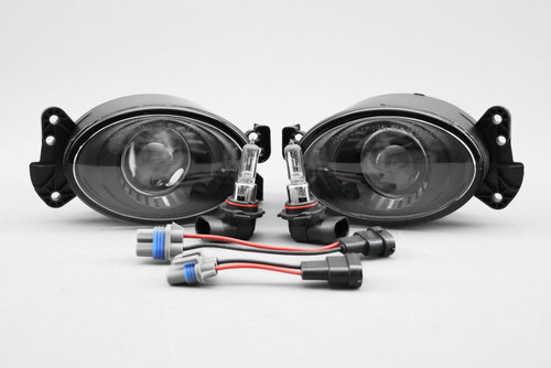 Front fog light set black projector Mercedes-Benz CLK C209 05-09