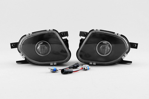 Front fog light set projector black Mercedes E-Class W211 03-06