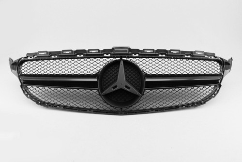 Front grille gloss black AMG C63 look Mercedes-Benz C Class C205 15-18