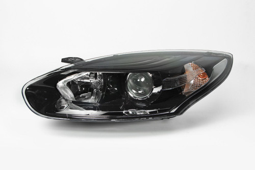 Headlight left black Renault Megane MK3 14-17