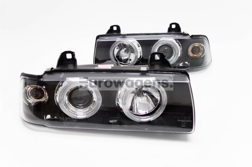 Angel eyes headlights set BMW 3 Series E36 91-99 2 door
