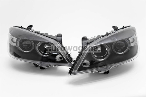 Angel eyes headlights set black Vauxhall Astra G 98-05
