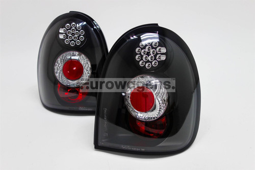 Rear lights set black LED Vauxhall Corsa B 94-00
