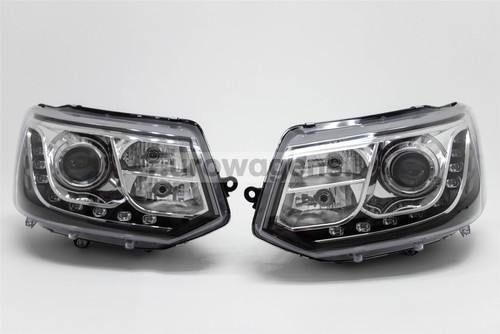 Headlights set DRL LED VW Transporter T5 Caravelle
