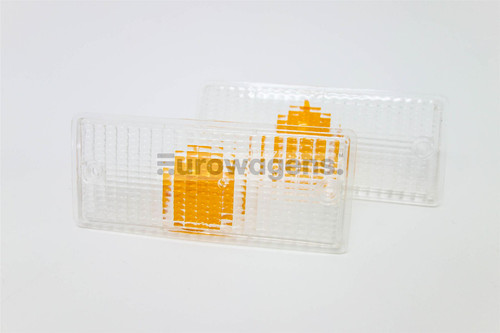 Front indicator lenses set clear BMW 3 Series E30 M3 85-92