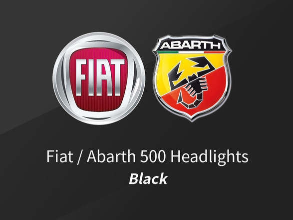Announcement: Fiat 500 / Abarth Black Headlights Now Available