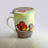 Cezanne Still Life With Apples Tea Mug w/ Infuser and Lid